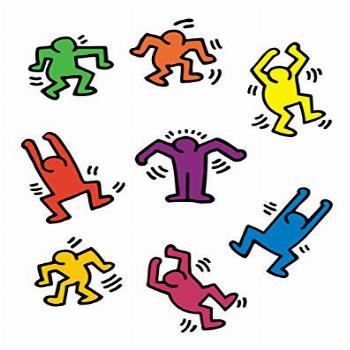 BLIK Keith Haring Dancers Removable Wall Decals   Officially