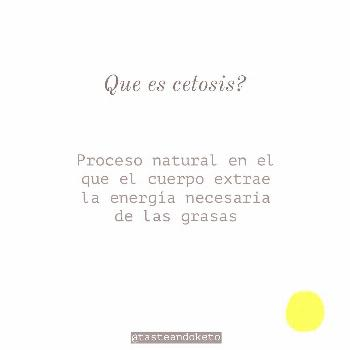 Cristian Bachini on June 05 2020 text that says Que es cetosis Pr