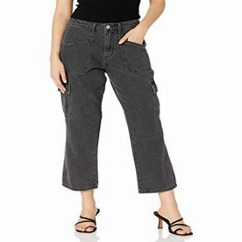 KENDALL + KYLIE Womens Cargo Pant - Amazon Exclusive, Black