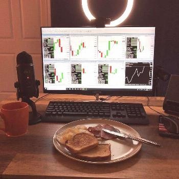 Michael Rawlings Bitcoin on June 06 2020 screen table indoor and