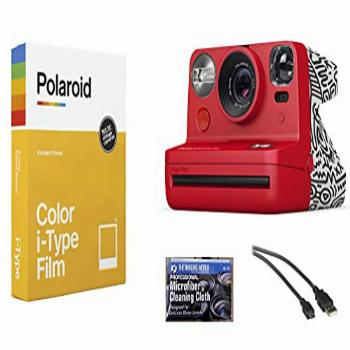 Polaroid Now i-Type Instant Film Camera (Red - Keith Haring