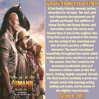 Reboot Reviews on June 05 2020 and 4 people text that says Jumanj