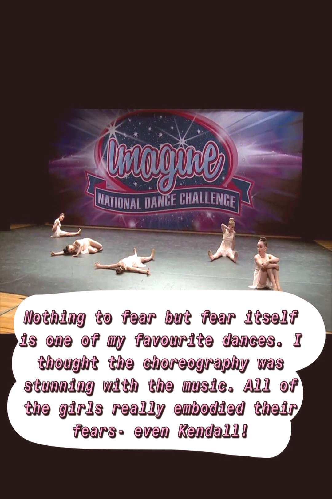 Aldc on June 06 2020 text that says umagine NATIONAL DANCE CHALLE