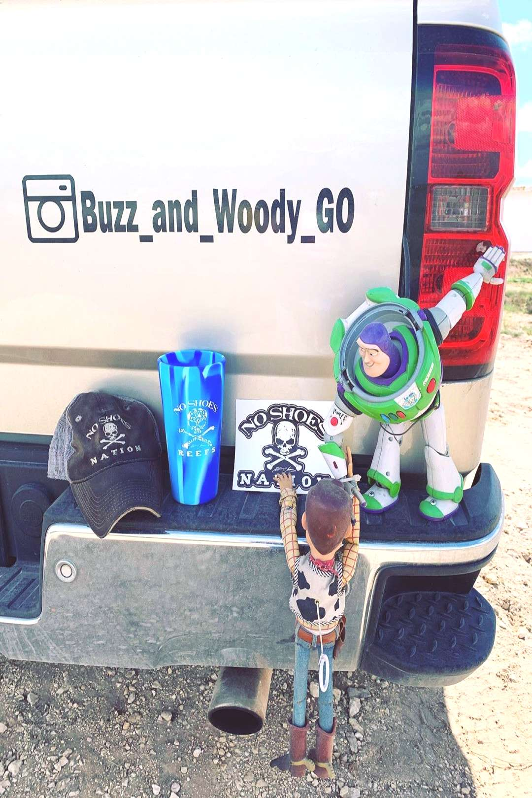 Buzz and Woody GO on June 01 2020 and 1 person shoes