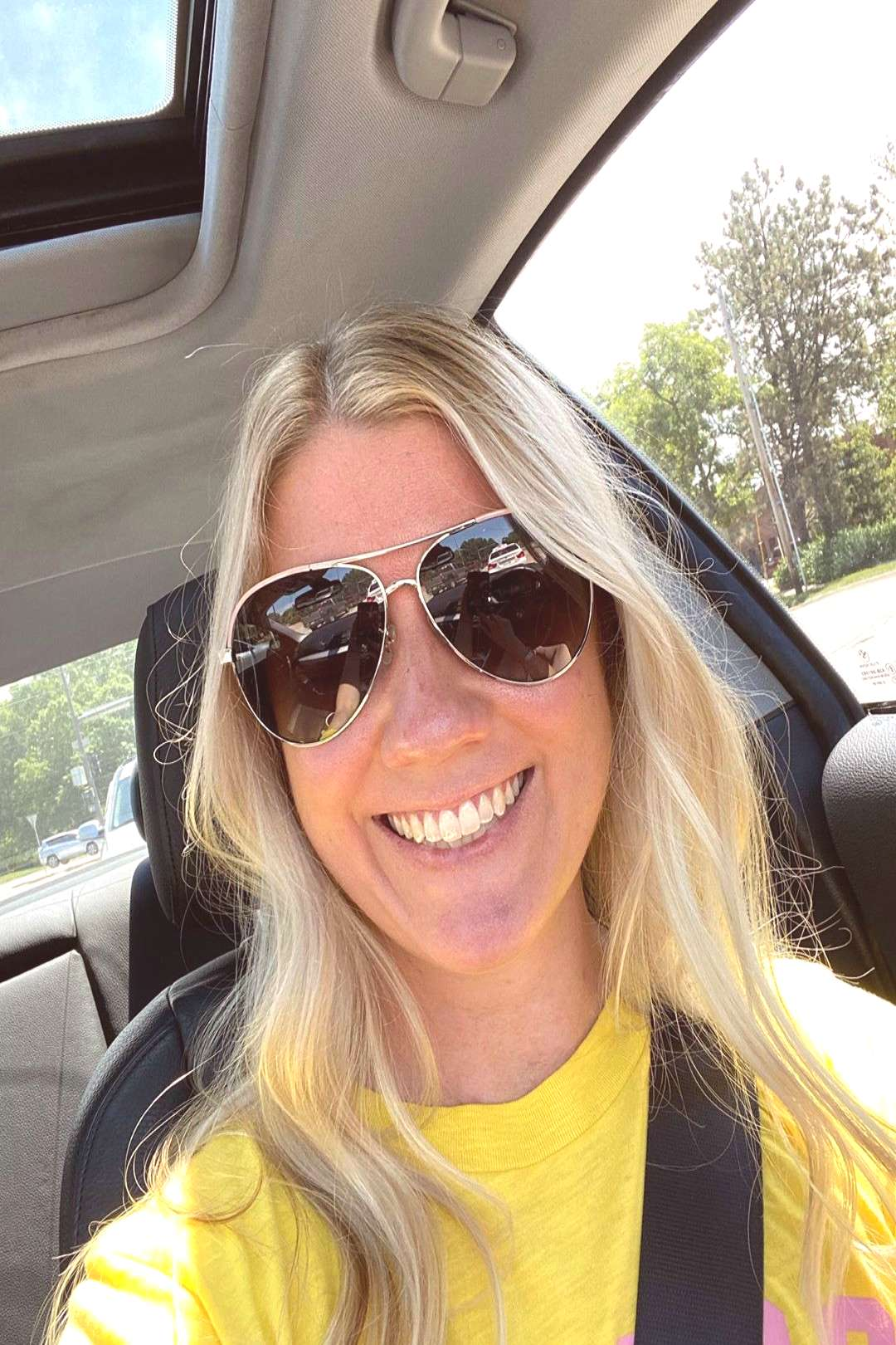 Katie Mehan on June 06 2020 and ks 1 person sunglasses selfie clo