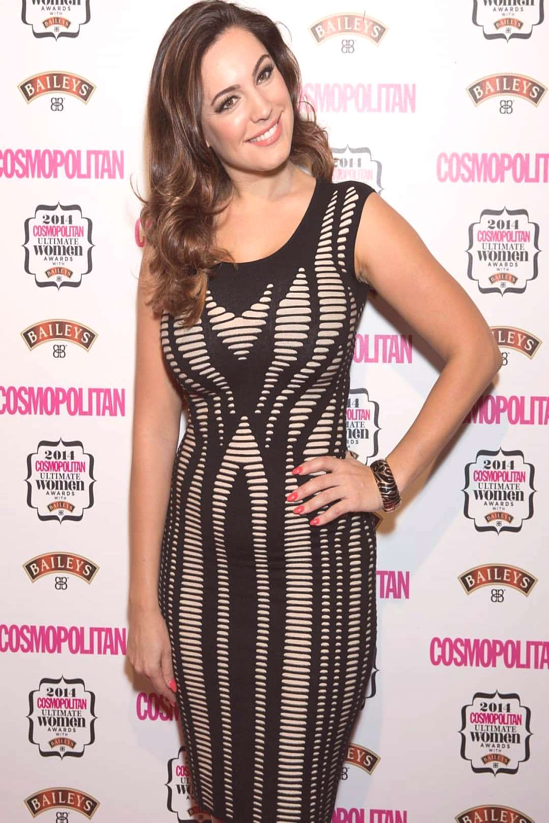 Kelly Brook on June 04 2020 1 person standing and text