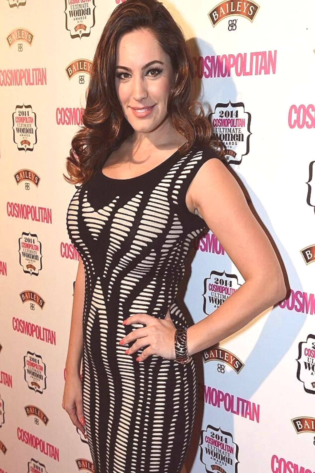 Kelly Brook on June 08 2020 1 person standing and stripes