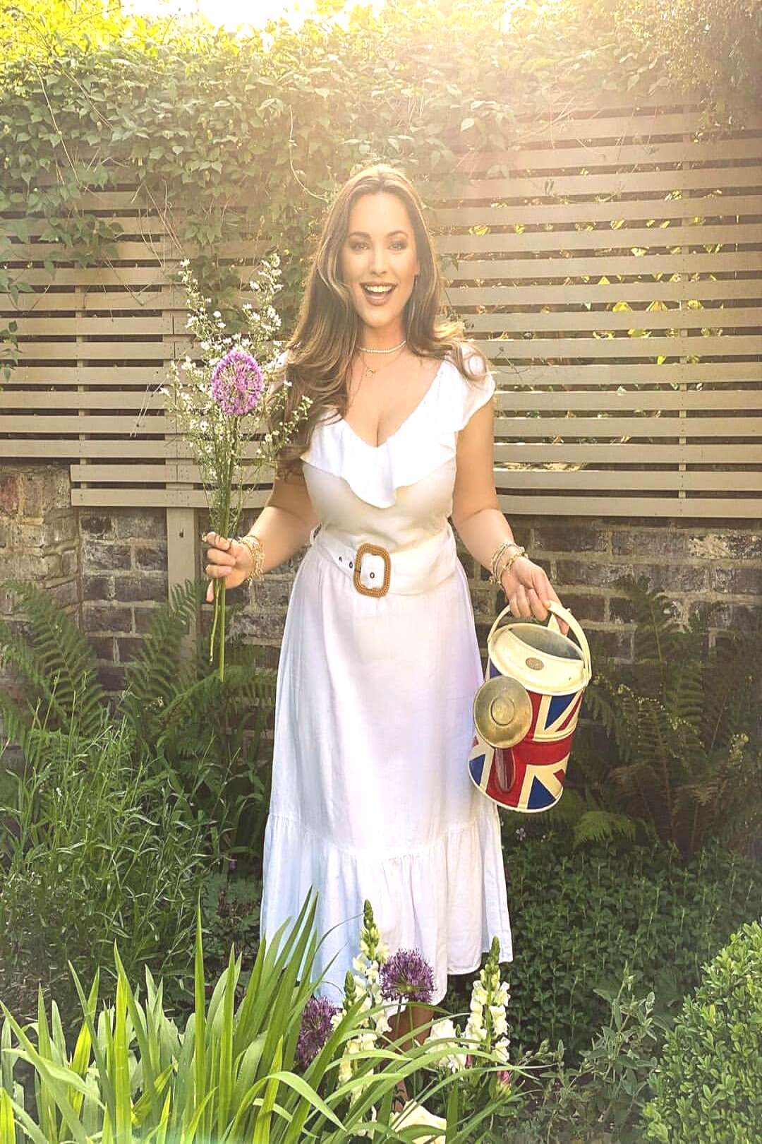 Kelly Brook on May 29 2020 1 person standing and outdoor