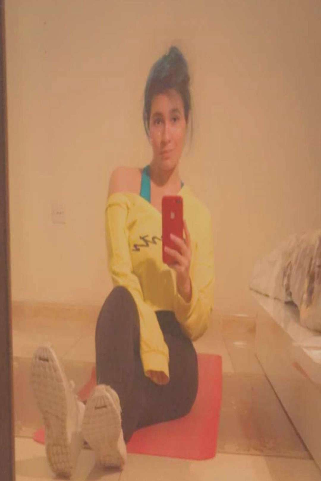 lujain on June 03 2020 1 person sitting phone and indoor