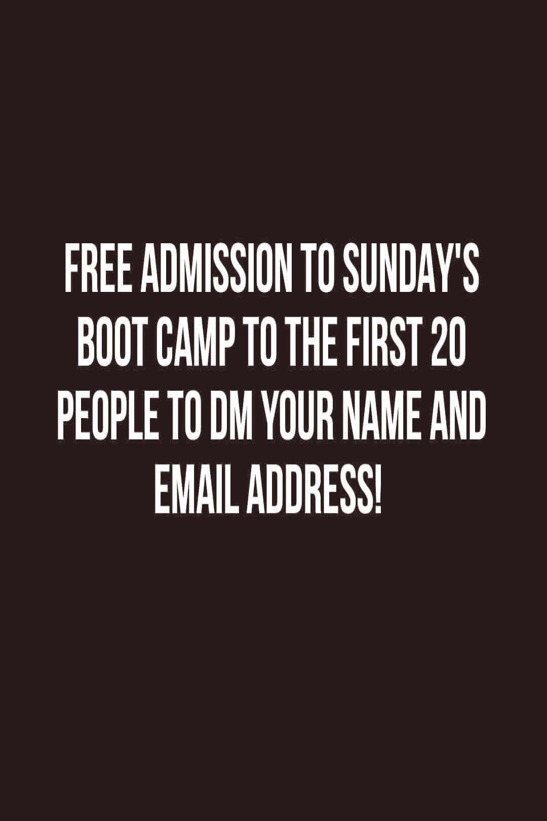 Michael Fitness on May 31 2020 text that says FREE ADMISSION TO S