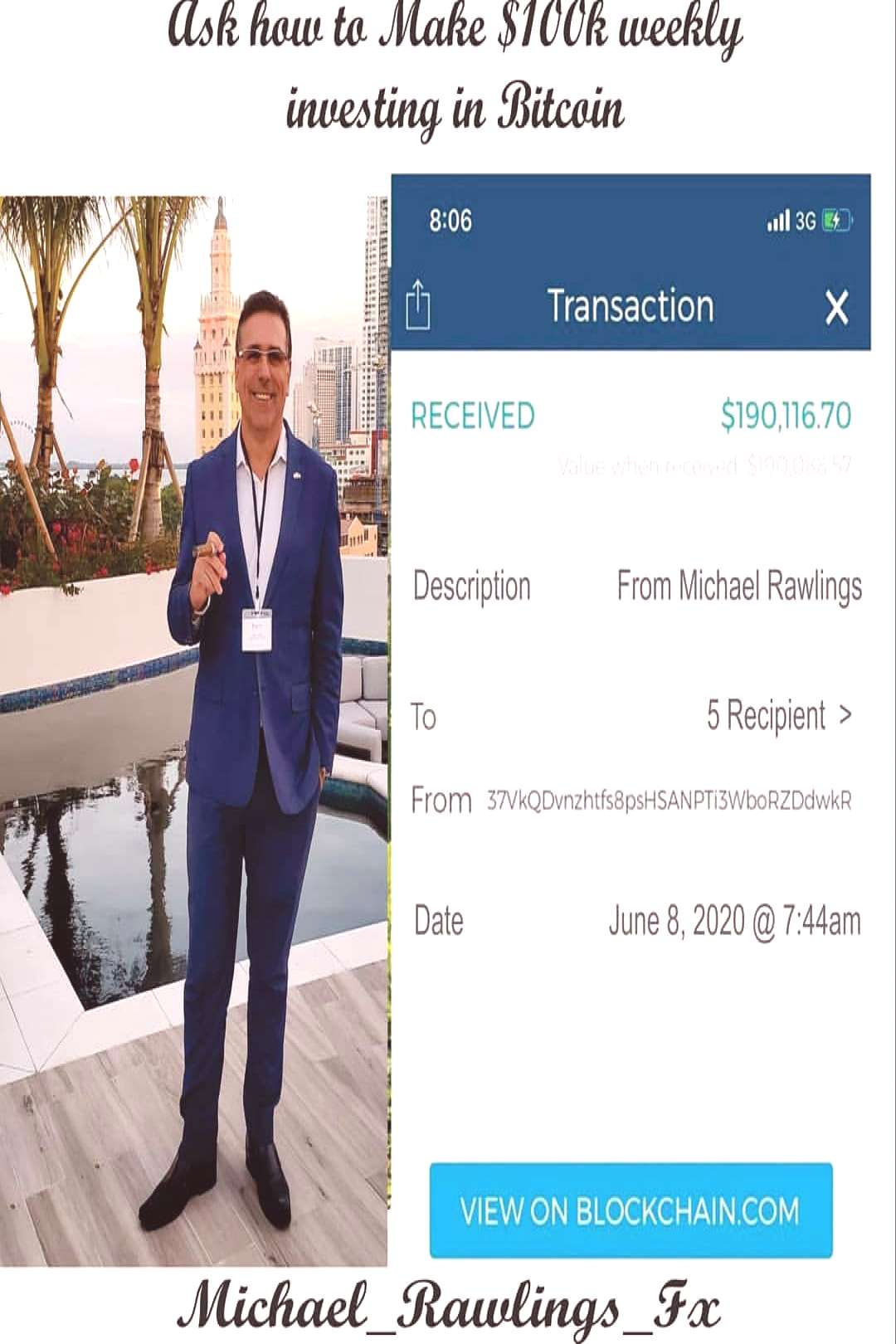 Michael Rawlings Bitcoin on June 08 2020 1 person